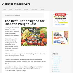 The Best Diet designed for Diabetic Weight Loss