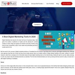 5 Best Digital Marketing Tools in 2020 - Tap N Buzz