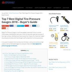 Top 7 Best Digital Tire Pressure Gauges 2018