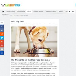 Best Dog Food - Eat Sleep Walk