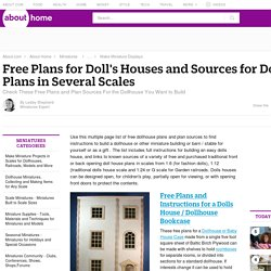 Best Free Dollhouse Plans and Plan Sources