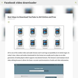 Best Ways to Download YouTube to AVI Online and Free