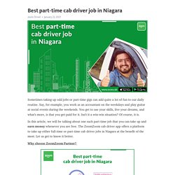 Best part-time cab driver job in Niagara – Telegraph