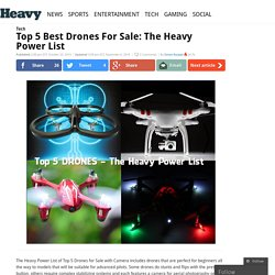 Top 5 Best Drones For Sale: The Heavy Power List