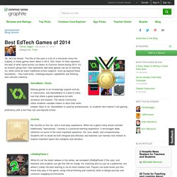 Best EdTech Games of 2014