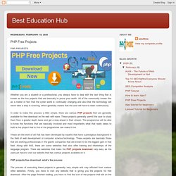 PHP Free Projects