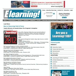 Best of Elearning! Hall of Fame