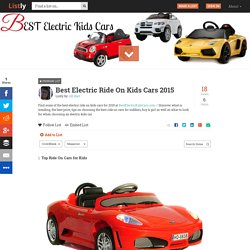 Best Electric Ride On Kids Cars 2015