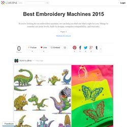 Best rated embroidery machines 2015 pearltrees for Janome memory craft 200e embroidery machine reviews
