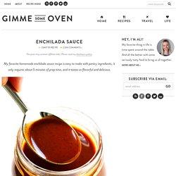 The BEST Enchilada Sauce Recipe!