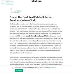 One of the Best Real Estate Solution Providers in New York