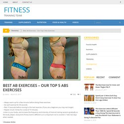 Best Ab Exercises – Our Top 5 Abs Exercises – FITNESS