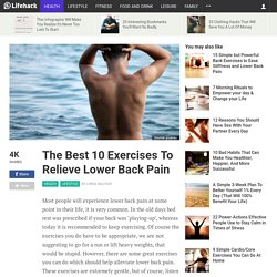 The Best 10 Exercises To Relieve Lower Back Pain