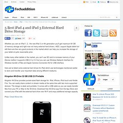 5 External Hard Drives For iPad 1, iPad 2, iPad 3