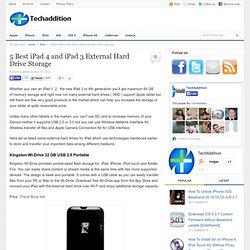 5 External Hard Drives For iPad 1, iPad 2, iPad 3