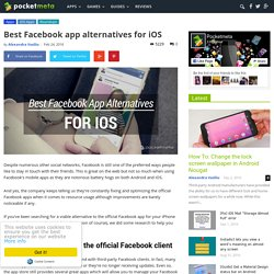 Best Facebook app alternatives for iOS