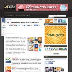 Top 10 Best Facebook Fan Page Applications