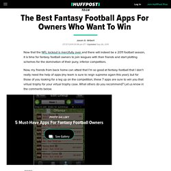 The Best Fantasy Football Apps For Owners Who Want To Win