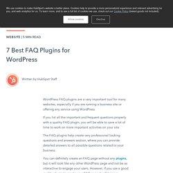 7 Best FAQ Plugins for WordPress