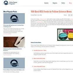 100 Best RSS Feeds to Follow Science News
