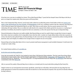 Best 25 Financial Blogs -- Printout -