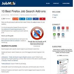 13 Best Firefox Job Search Add-ons