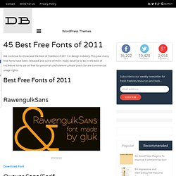 45 Best Free Fonts of 2011