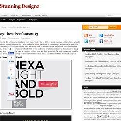 25+ best free fonts 2013