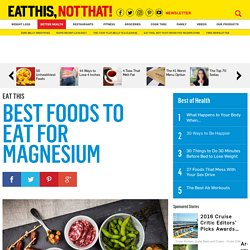 Best Foods to Eat for Magnesium