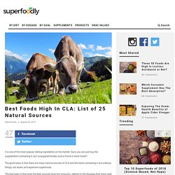 Best Foods High In CLA: List of 25 Natural Sources