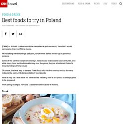 Best foods to try in Poland