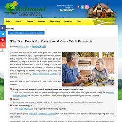 The Best Foods for Your Loved Ones With Dementia