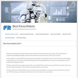 Best Forex Robots 2017