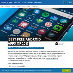 Best free Android apps of 2017