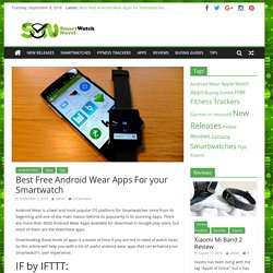 Best Free Android Wear Apps For your Smartwatch