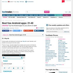 30 best free Android apps