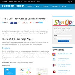Top 5 Best Free Apps to Learn a Language