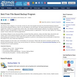 Best Free File-Based Backup Program