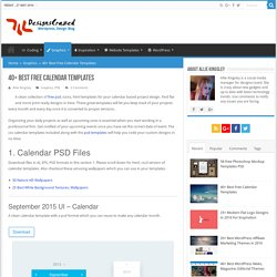 35 Best Free Calendar Templates ( PSD, AI, EPS)