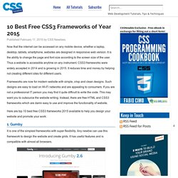10 Best Free CSS3 Frameworks of Year 2015