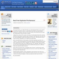 Best Free Duplicate File Detector