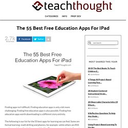 The 55 Best Free Education Apps For iPad