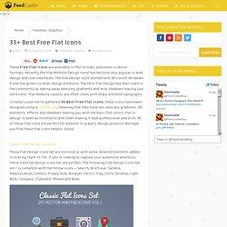 33+ Best Free Flat Icons