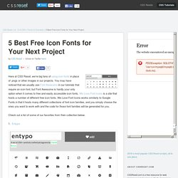 5 Best Free Icon Fonts for Your Next Project