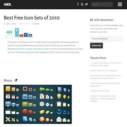 Best Free Icon Sets of 2010 | Freebies