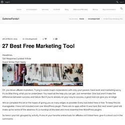 27 Best Free Marketing Tool