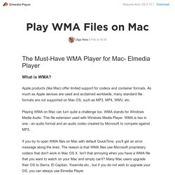 how to play WMA files on mac