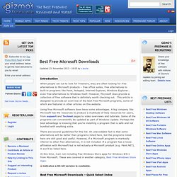 Best Free Microsoft Downloads