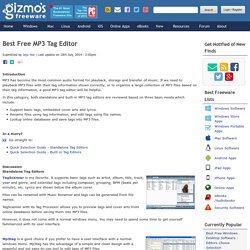 Best Free MP3 Tag Editor