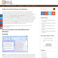 18 Best Free OCR Software For Windows